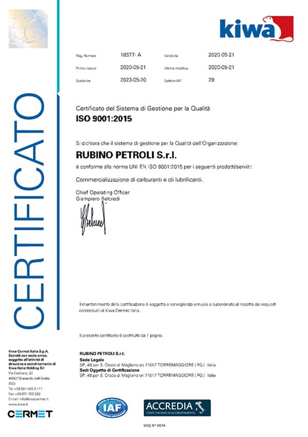 rubino-petroli-certificato-gestione-sistema-qualita